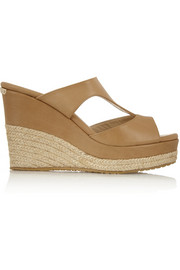 Jimmy Choo Pacane leather wedge sandals