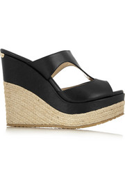 Jimmy Choo Pledge leather wedge sandals