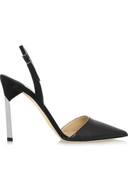 Devleen patent-leather and suede pumps