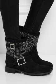 Jimmy Choo Youth studded suede ankle boots