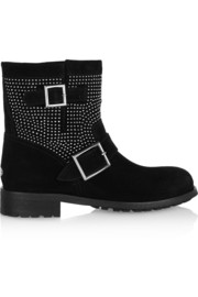 Youth studded suede ankle boots