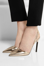 Jimmy Choo Devout mirrored-leather pumps