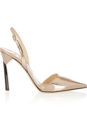 Devleen mirrored-leather pumps