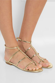 Doodle metallic leather sandals