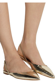 Jimmy Choo Genoa snake-effect leather point-toe flats