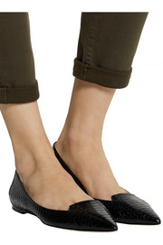 Jimmy Choo Attila elaphe point-toe flats