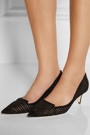 Jimmy Choo Allure perforated suede pumps