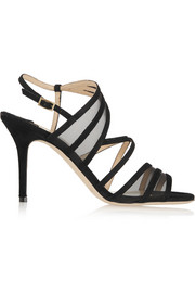 Jimmy Choo Vora suede and mesh sandals