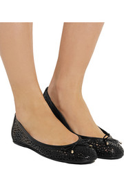 Walsh perforated leather ballet flats