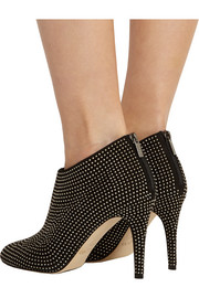 Mendez studded suede ankle boots