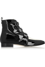 Marlin patent-leather ankle boots