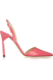 Jimmy Choo Devleen patent-leather and suede pumps