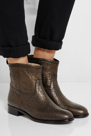 Jimmy Choo Harley metallic textured-leather ankle boots