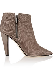 Haydn snake-effect leather ankle boots