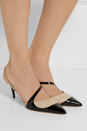 Jimmy Choo Monty tri-tone leather pumps