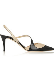 Monty tri-tone leather pumps
