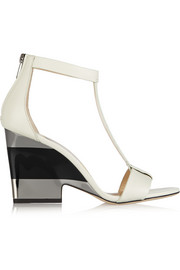 Milan leather wedge sandals