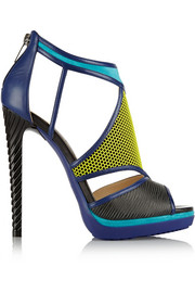 Jimmy Choo Lythe honeycomb leather and suede sandals