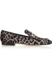 Jimmy Choo Wisa leopard-print calf hair loafers