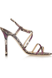 Jimmy Choo Issey snake-effect leather sandals