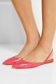 Jimmy Choo Genoa patent-leather point-toe flats