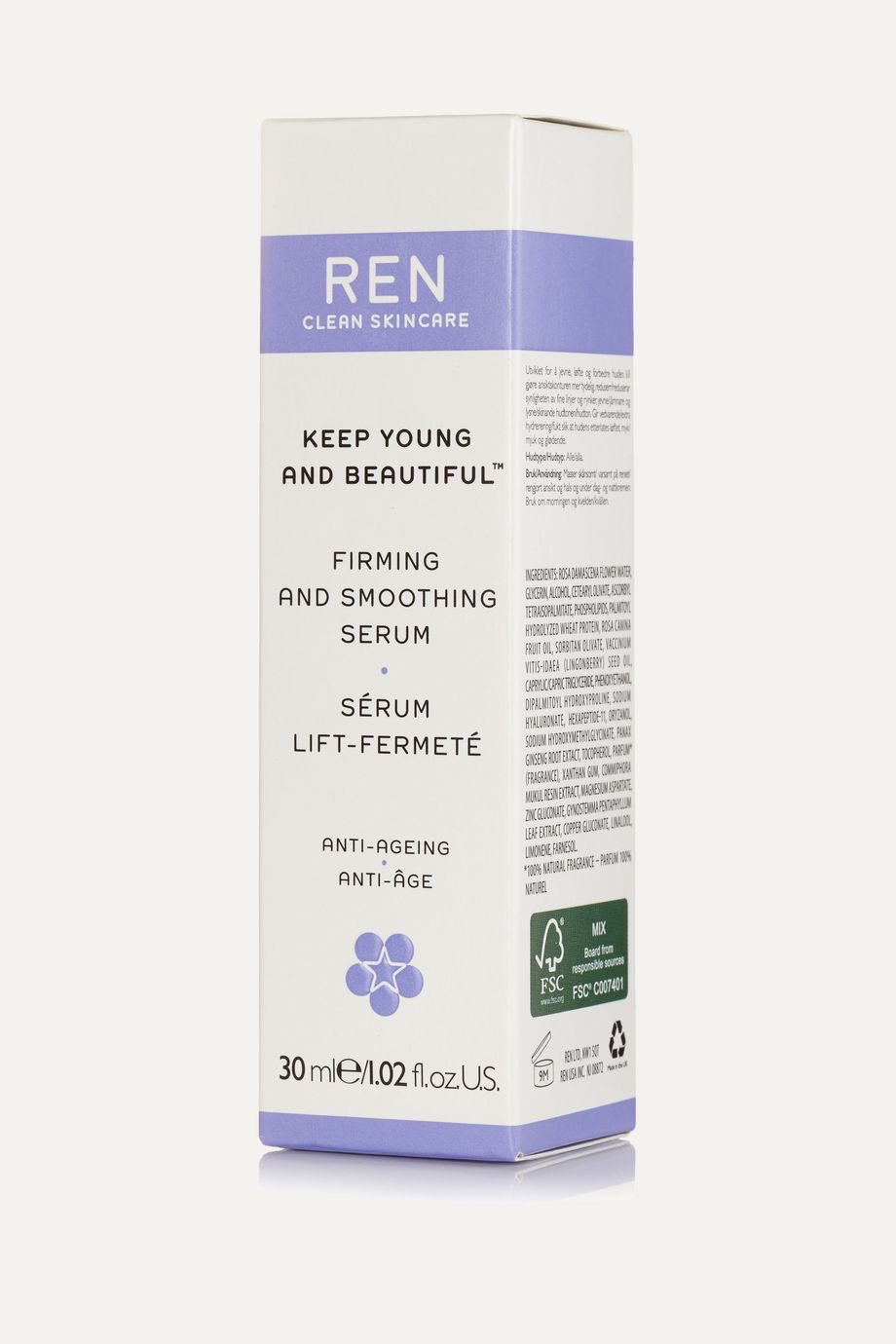 REN Clean Skincare Keep Young and Beautiful Firming and Smoothing Serum, 30ml