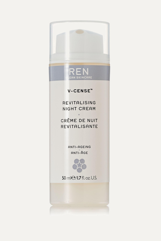 REN Clean Skincare V-Cense Revitalising Night Cream, 50ml
