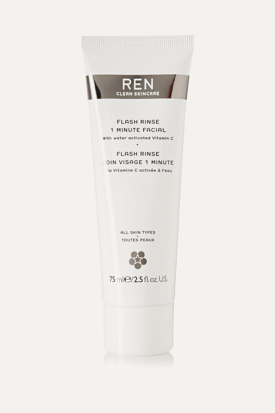 REN Clean Skincare Flash Rinse 1 Minute Facial, 75ml
