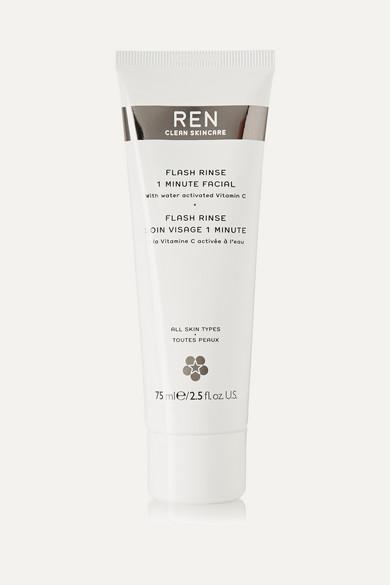 REN Skincare - Flash Rinse 1 Minute Facial, 75ml - Colorless