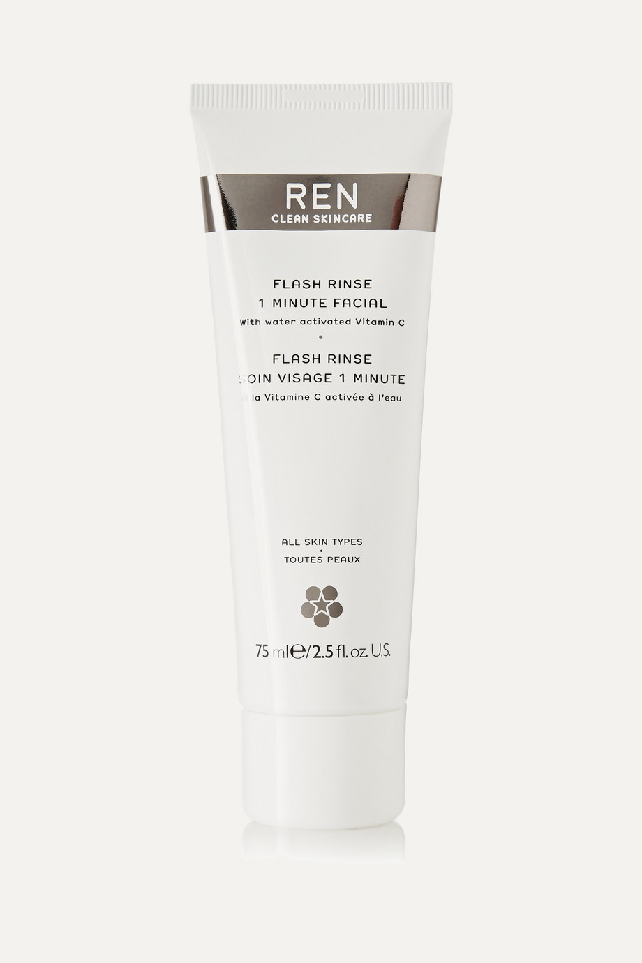 Flash Rinse 1 Minute Facial, 75ml, by Ren Skincare