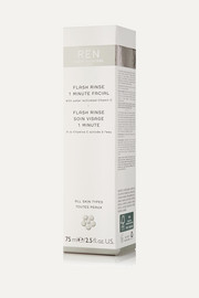Ren Skincare Flash Rinse 1 Minute Facial, 75ml