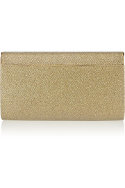 Jimmy Choo Cayla metallic mesh clutch