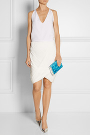 Jimmy Choo Candy printed acrylic and leather clutch