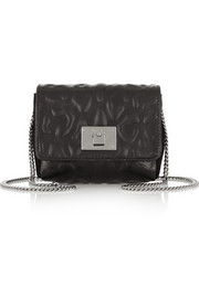 Jimmy Choo Ruby mini leopard-embossed leather shoulder bag