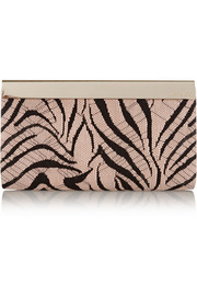 Jimmy Choo Cayla embroidered suede clutch