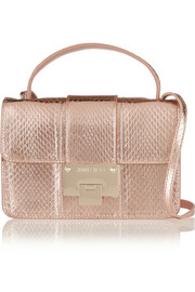 Jimmy Choo Rebel metallic elaphe shoulder bag