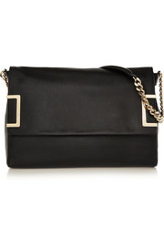 Ally textured-leather shoulder bag