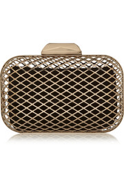 Cloud gold-tone box clutch