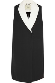 Double-faced cotton-crepe vest