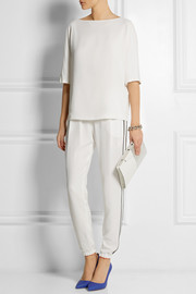 Fendi Stretch-crepe top