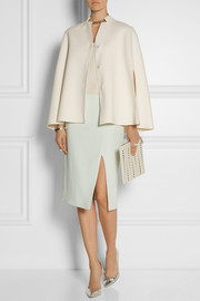 Fendi Double-faced wool cape
