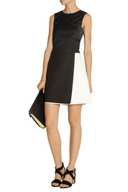 Fendi Cotton-crepe wrap mini skirt