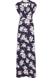 Marni Printed silk-crepe maxi dress