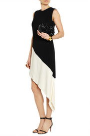 Marni Two-tone asymmetric crepe dress