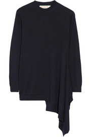 Marni Asymmetric wool and silk-blend sweater