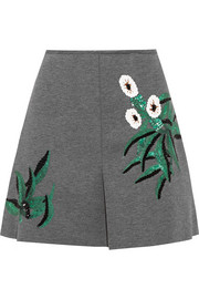 Marni Sequined bonded-jersey mini skirt