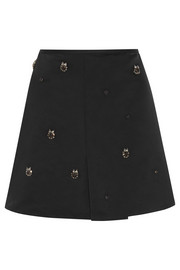 Marni Embellished satin mini skirt
