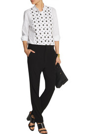 Marni Embellished cotton-poplin shirt