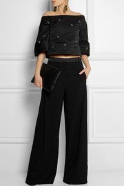 Marni Embellished satin top