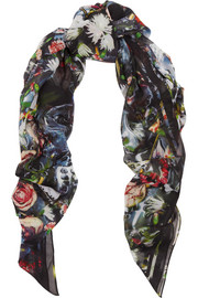 Festive Floral printed modal scarf